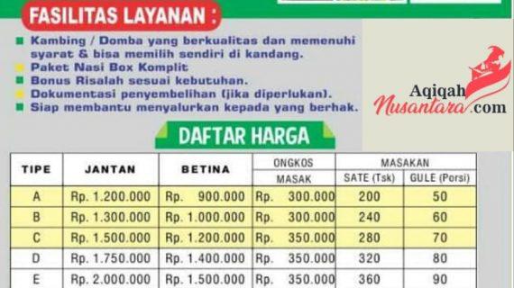 Daftar harga paket aqqah nusantara